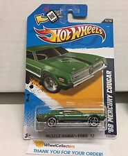 '68 Mercury Cougar #119 * GREEN * Kmart Only Color * 2012 Hot Wheels * NB14