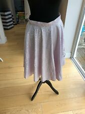 Fifties Style Full Skirt In Pink Satin With Velvet And Poodle Design Size 10/12