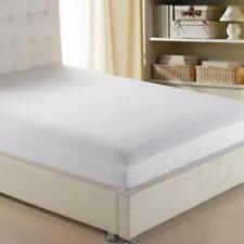 Draps-housses blanches en polycoton pour le lit, pour chambre