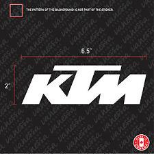 2X KTM LOGO sticker vinyl decal