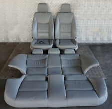 BMW 3 Series E90 Heated Grey Leather Interior Seats with Airbag and Door Cards