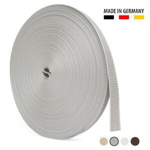 BAUHELD® 6m 50m Rolladengurt 23mm 14mm Rolladen Gurtwickler Gurt Grau Weiß Beige