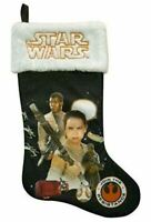 "Star Wars: Force Awakens 20"" Disney Christmas Stocking (New) Rey Finn Chewbacca"