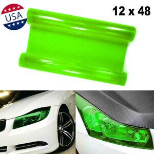 "12"" x 48"" JDM Green Tint Film Trim Wrap for Headlight DRL Fog Light Universal"
