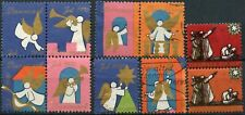Denmark 1970-1 Christmas Seals Charity Labels x 10 Stamps #D91157
