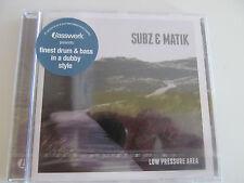 SUBZ & MATIK LOW PRESSURE AREA CD NEW DRUM & BASS JUNGLE DUBSTEP BREAKBEAT