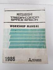Mitsubishi Tredia Cordia Space Wagon Workshop Manual Dated 1986