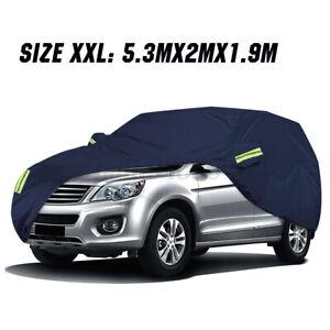 210T SUV Full Car Cover Waterproof Outdoor Scratch Sun Rain Dust Resistant XXL