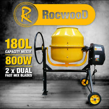 Electric Cement Concrete Mixer RocwooD 180L Litre 800W Drum Mortar Plaster