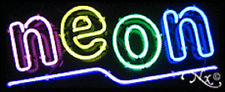 Brand New Neon 32x13 Underlined Real Neon Sign Withcustom Options 10095
