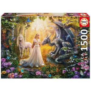 Educa Jigsaw Puzzle 1500 Parts Dragon, Princess And Unicorn 17696