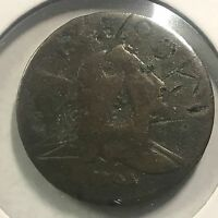 1794 LIBERTY CAP HALF CENT COLONIAL COIN FULL DATE