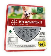 Bayer K9 Advantix II Flea, Tick, and Mosquito Small Dog 4-10 lbs 4 Monthly Doses