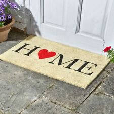 Home is Where the Heart is Coir Doormat Indoor Outdoor Door Mat 75x45cm