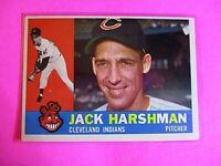 1960 TOPPS baseball Set Break #112 Jack Harshman Indians  NrMt NM High Grade