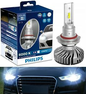 Philips X-Treme Ultinon LED 6000K 9006 HB4 Two Bulbs Head Light Low Beam Fit OE
