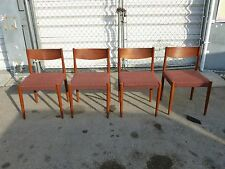 4 BEAUTIFULLY DESIGNED MID CENTURY MODERN DANISH MODERN CHAIRS BY FREM ROJLE