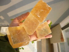 882g 4pcs Natural Optical Calcite Crystal Iceland Spar China HN006
