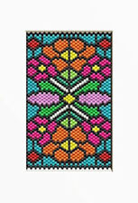 Stained Glass Poppies~Beaded Banner Pattern