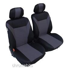Vorderseite grau schwarz Stoff Sitzbezüge für SEAT IBIZA LEON CORDOBA ALTEA MPV