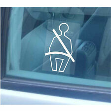 1 x Wear Your Seatbelt Sticker-Seat Window Sign-Taxi,Coach,Bus,Minicab,Car,Cab
