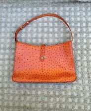 Vintage DKNY Leather Medium Purse Two Tone Brown Dotted Leather Rivet Snaps