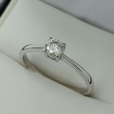 18ct White Gold Brilliant Cut Diamond Solitaire Engagement Ring, Finger Size N
