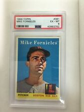 1958 Topps #361 Mike Fornieles PSA 6 Boston Red Sox
