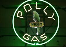 "New Polly Gasoline Gas Pump Station Beer Bar Neon Light Sign 16""x16"""