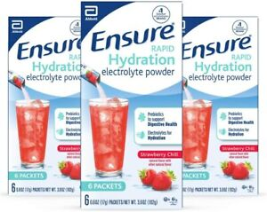 Ensure Rapid Hydration Electrolyte Powder, Prebiotics 0.6 Ounce (Pack of 18)
