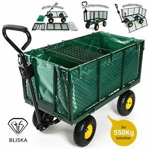 Transportwagen  Bollerwagen  550kg  Gartenwagen Gerätewagen Handwagen Ziehwagen