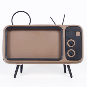 Retro Portable TV Phone Holder Bracket Mount Stand Vintage Television 60's 70's