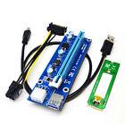 USB3.0 PCI-E Express 1X A 16X M2 NGFF Extender Riser Board Adaptador SATA Cable
