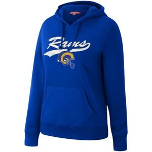 Mitchell & Ness Women's Los Angeles LA Rams Royal Team NFL Pullover Hoodie New