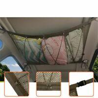Car Ceiling Storage Net Portable Pocket Roof Interior Cargo Net Bag Car Trunk