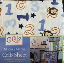 New Cocalo Monkey Mania Fitted Crib Sheet