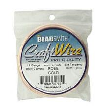 Craft Wire 14ga Round 10ft/spl Rose Gold