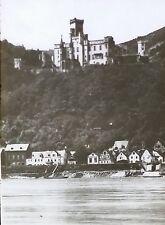 Stolzenfels Castle, Germany, Vintage Magic Lantern Glass Photo Slide