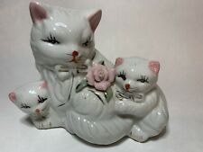New listing Vintage Ceramic Cat With Kittens
