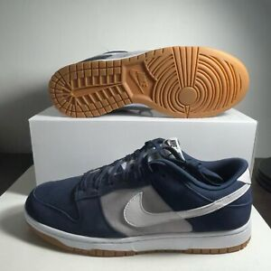 """Nike ID Dunk Low 365 """"By You"""" Sneaker US Men Size 12 Navy/Grey/White Yankees"""