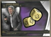 2019 Star Wars Masterwork Han Solo 7/50 Purple Dice Medallion 1:28 Packs SP