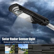 Commercial LED Solar Parking Lot Street Light Dusk To Dawn Motion Auto Sensor