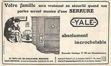 W7500 Serrature YALE - Pubblicità del 1925 - Old advertising
