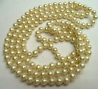 """STUNNING VINTAGE ESTATE OPERA LENGTH IND KNOT GLASS PEARL 60"""" NECKLACE!!! 4583G"""