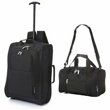5 Cities Ryanair Cabin Approved 55x40x20cm Trolley Backpack & 2nd 35x20x20cm