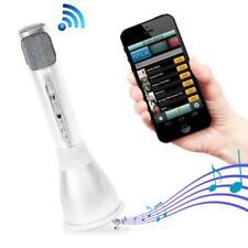 Bluetooth Karaoke Microphone Speaker System with Wireless Megaphone-Style Mic