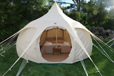 Lotus Belle Outback Tent Camping Outdoor Canvas Glamping Yurt Design 13 FT