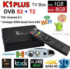 K1 Plus Android 7.1 Quad Core 2GHz boîte Smart TV IPTV DVB-S2 DVB-T2 dual tuner