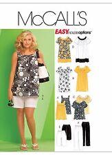McCall's Sewing Pattern M5640 SZ 18W-24W Women's Tops Dresses Shorts Capri Pants