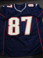 Rob Gronkowski Blue Signed LARGE JERSEY, ORIGINAL, AUTHENTICATED w/ COA CARD